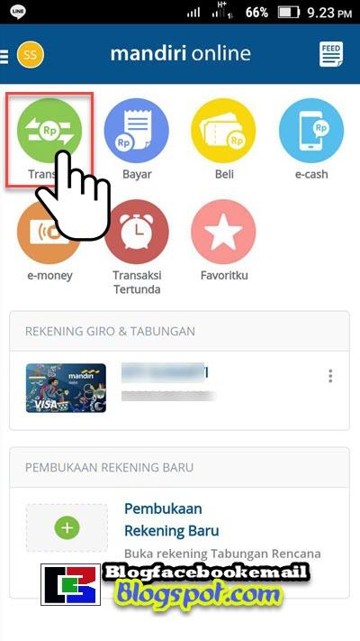 cara mengirim uang lewat mandiri online