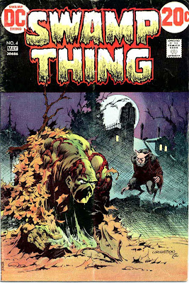 Swamp Thing v1 #4 1970s bronze age dc comic book cover art by Bernie Wrightson