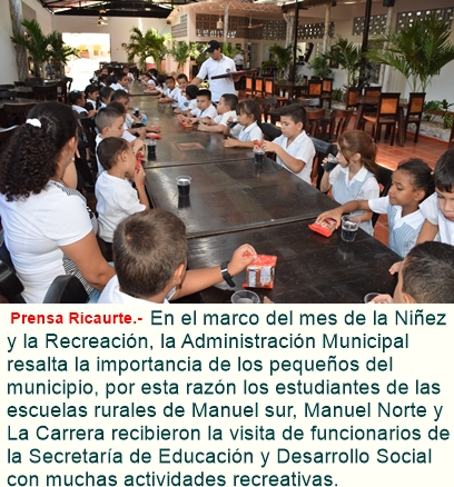 Alcaldía de Ricaurte dio inicio a las actividades del mes de la niñez.
