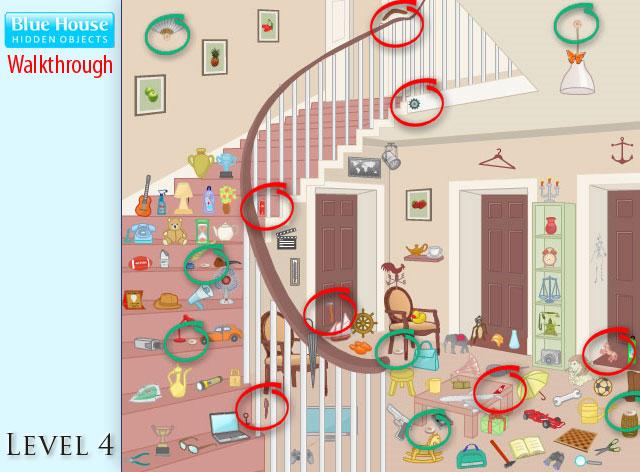 Blue House Hidden Objects Level 4