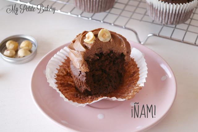 Cupcakes de Nutella y Avellanas