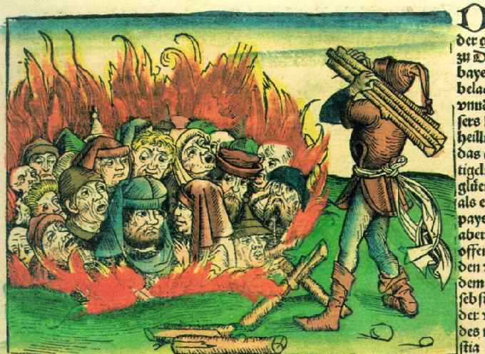 Image result for christians blamed the jews for the black death