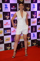 Actress Gauhar Khan  Pictures in White Shorts at Mirchi Music Awards 2016  0006.jpg