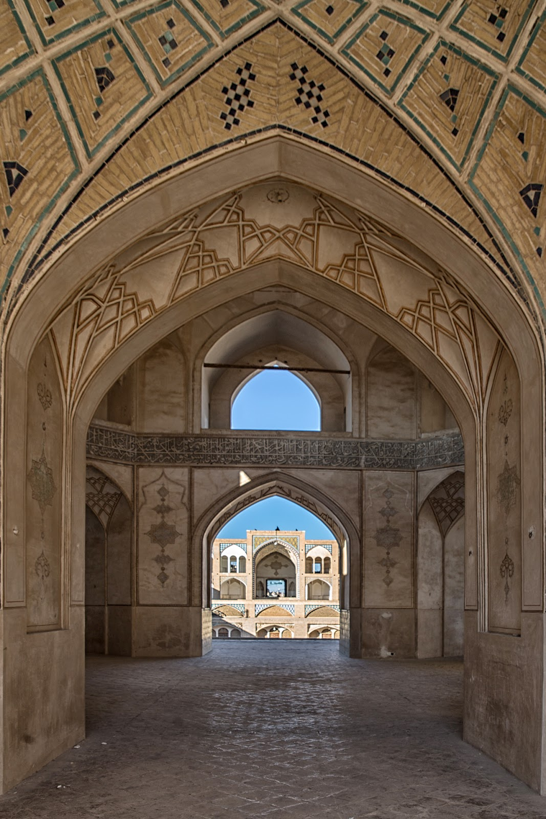 Meczet Agha Bozorg,Iran.Kaszan
