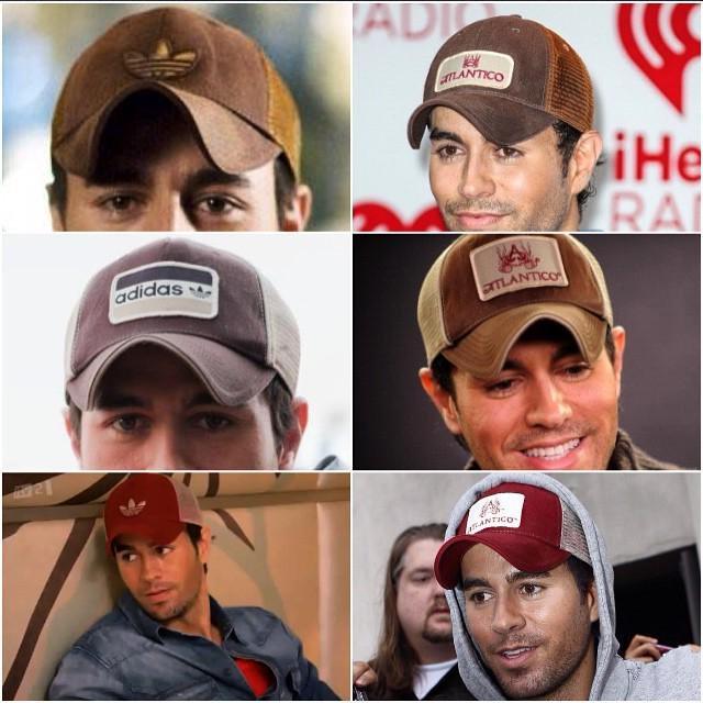 Durante varios años Enrique utilizó estos tres modelos de gorras de la  marca Adidas. Continuando su preferencia por gorras con malla 937db79503b
