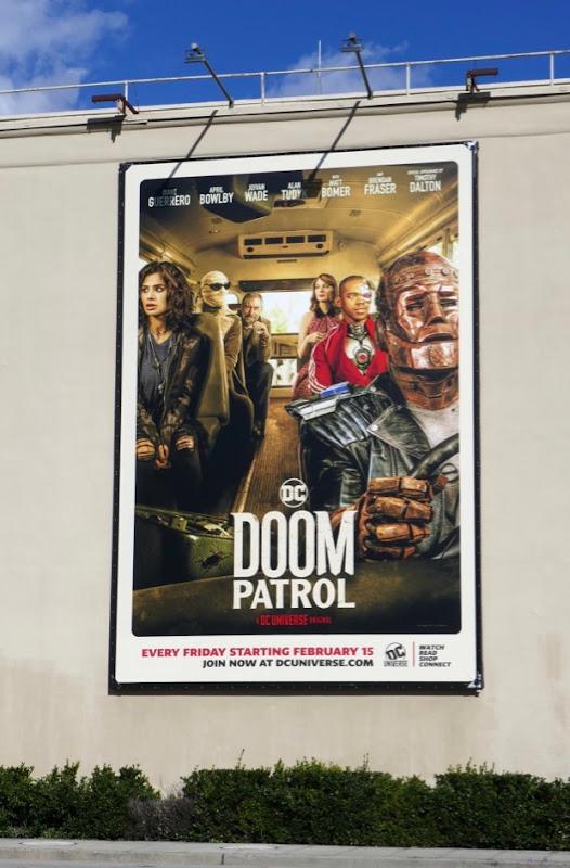 DC Doom Patrol series premiere billboard