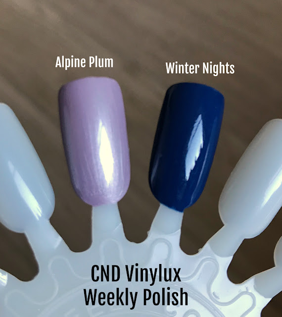 CND Vinylux Weekly Polish Winter Night  Alpine Plum swatch