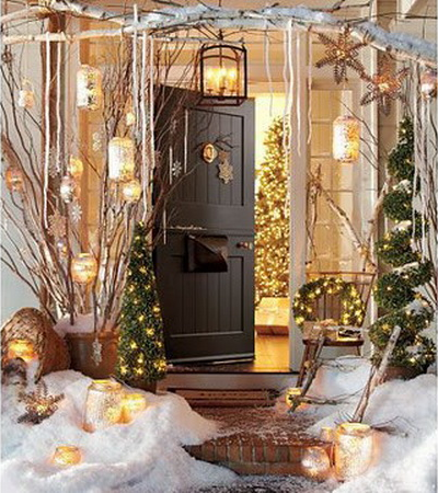 christmas holiday front door