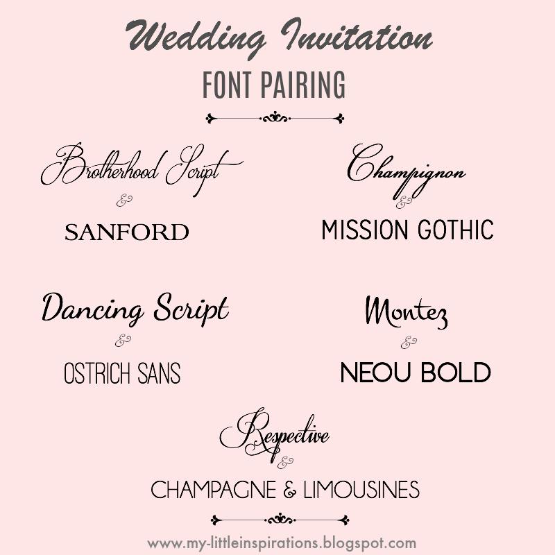 Eccezionale My Little Inspirations: Wedding Fonts - i migliori Fonts per  RF88