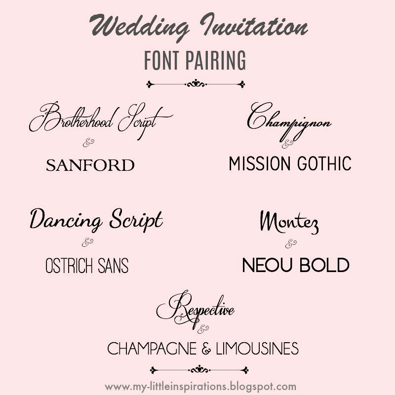 Ben noto My Little Inspirations: Wedding Fonts - i migliori Fonts per ZN37
