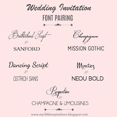 Wedding fonts: i migliori per partecipazioni di Matrimonio - My Little Inspirations