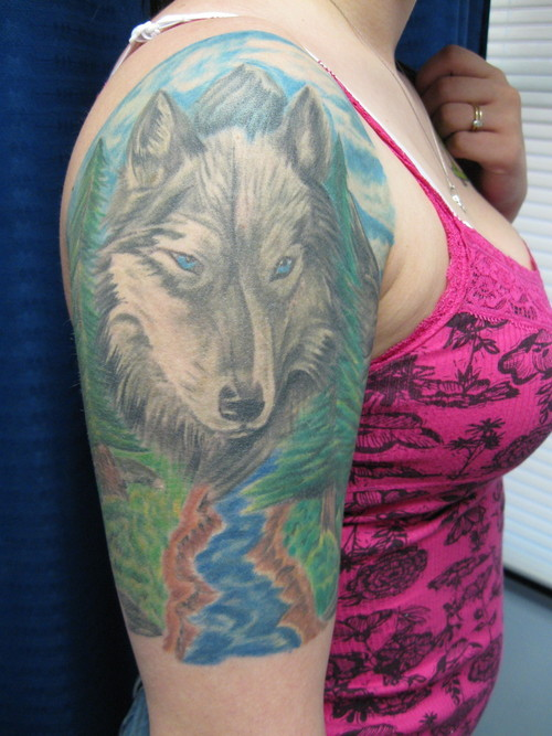 Lone Wolf Tattoos On Arm ~ Tattoo Pictures