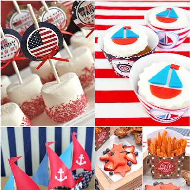 4th of July Red, White and Blue Party Printables Sale