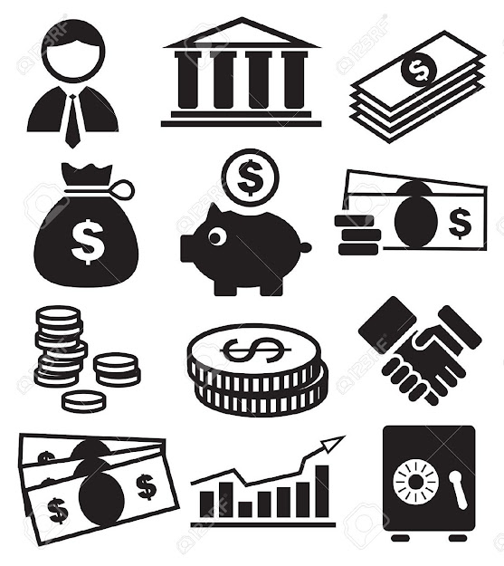 Piggy Bank Banking Icons