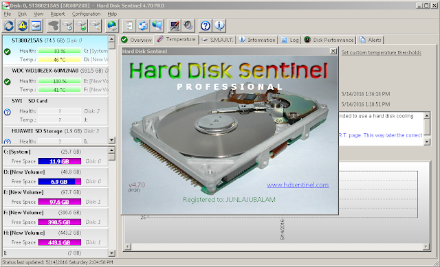 hdd sentinel profesional 4.70 registered free download
