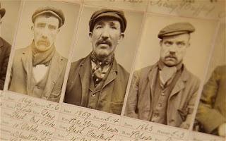 Ficha policial de varios miembros de los Peaky Blinders