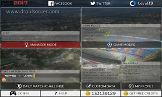 FTS 15 MOD PES 2017 by Alan Apk + Data Obb Android