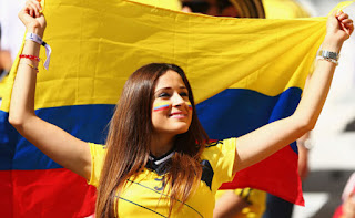 Colombia beautiful fans