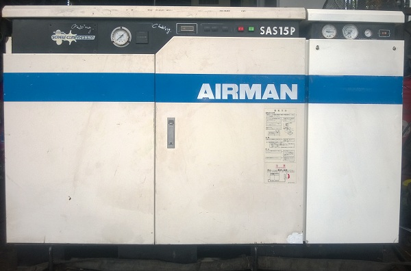 máy nén khí cũ Airman 15 kw có tách ẩm