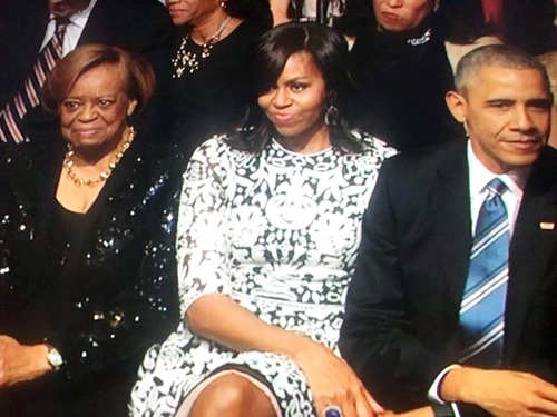 Photos of U.S First Lady, Michelle Obama's Romantic Stare at Singer, Usher at an Event Goes Viral