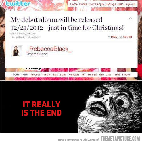 proof the world is going to end