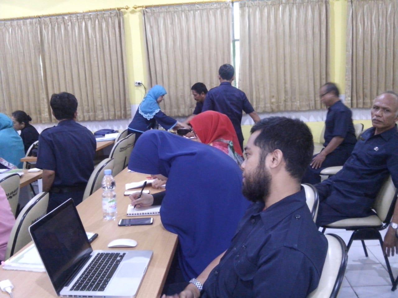 Pelatihan E-Rapor Semester Gasal Tahun 2018-2019