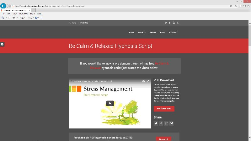 Free Hypnotherapy Scripts | Hypnotherapy Training and
