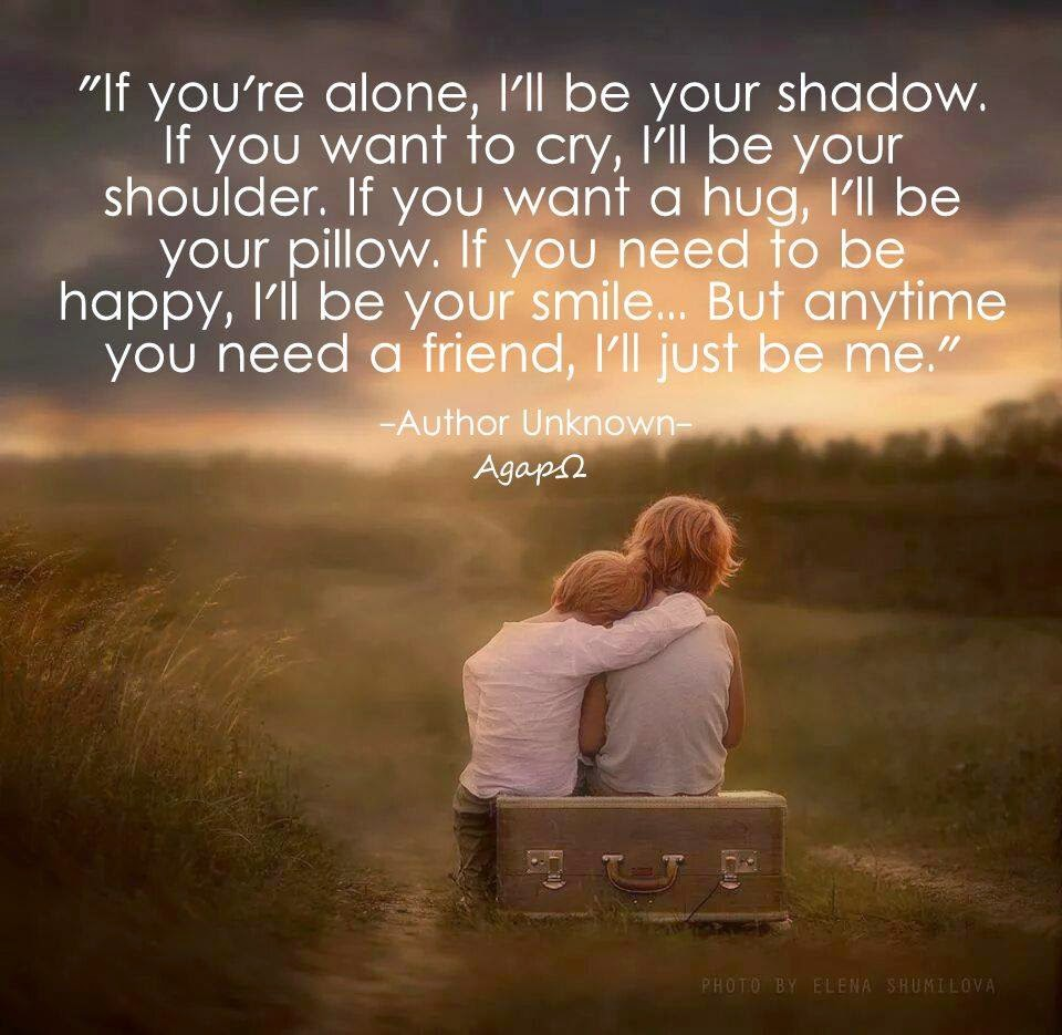 I Want To Cuddle With You Quotes: If You're Alone, I'll Be Your Shadow. If You Want To Cry
