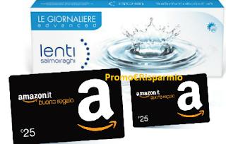 Logo Buoni Amazon da 25 euro con le Lenti Salmoiraghi
