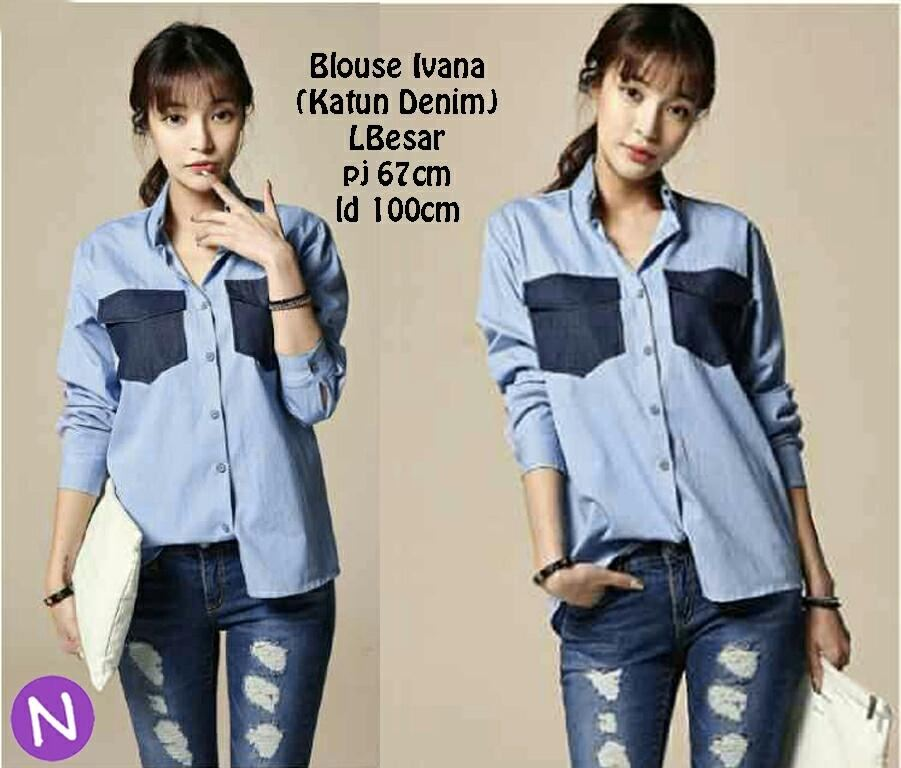 Denim Blouse Murah 66