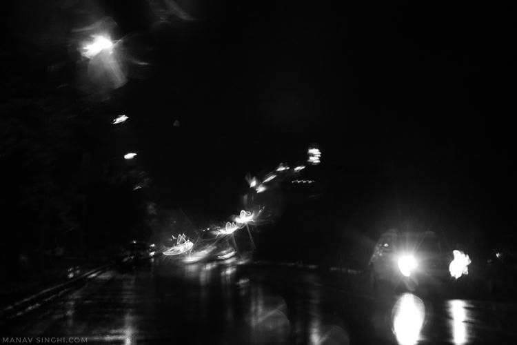 आज बड़ी मुख़्तसर सी बारिश थी।