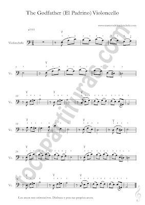 1 Partitura de Violonchelo de El Padrino (Partituras para otros instrumentos aquí) Sheet Music Godfather Theme. Sirve para cualquier instrumento en clave de fa Trombón, Fagot, Bombardino, en 8ª baja Tuba y/o Contrabajo & Vídeo tutorial Como tocar Amazing Grace en Violonchelo