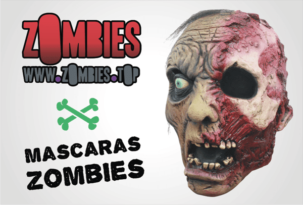mascaras de zombies
