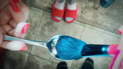 Use shampoo to clean your makeup brushes
