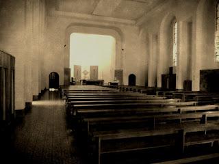Interior da Igreja do Santuário Nossa  Senhora de Salete, em Marcelino Ramos