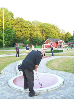 Tampere Reunion Classic II minigolf competition played at the Tantogårdens BGK course at Tantolunden Park in Stockholm