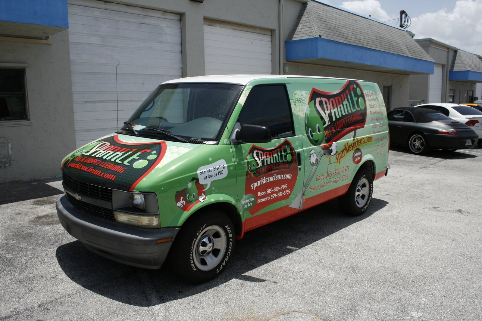 All Chevy chevy astro van : Fort Lauderdale FL Chevy Astro Van Car Wrap for Carpet Cleaing ...