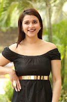 Mannara Chopra in Short Off Shoulder Black Dress ~  Exclusive 052.JPG