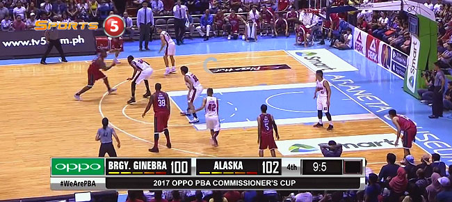 Justin Brownlee with the CLUTCH Three-Point Play vs. Alaska (VIDEO)