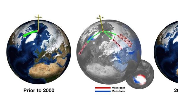 El eje de rotación de la Tierra se desvía y estas son las tres razones