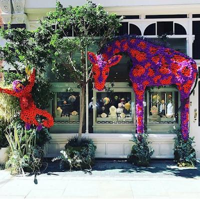 Chelsea Flower Show 2017 giraffes in flowers via belle vivir blog