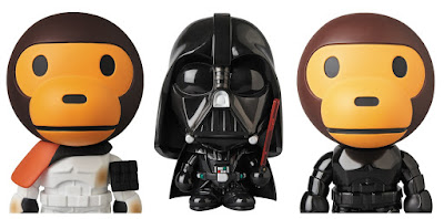 Star Wars x A Bathing Ape Baby Milo Wave 4 Vinyl Figures by Medicom – Darth Vader, Sandtrooper & Shadowtrooper