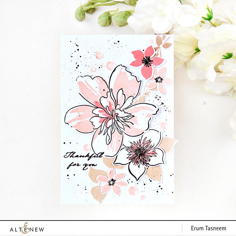Altenew Floral Art Stamp Set | Erum Tasneem | @pr0digy0