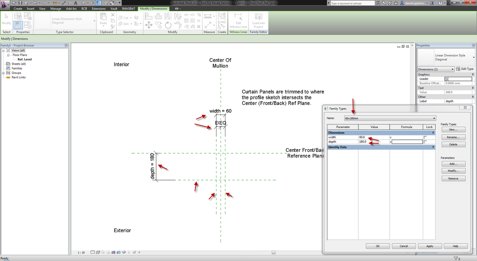 Dani l and autodesk aec software revit curtain wall mullions for Curtain creator software