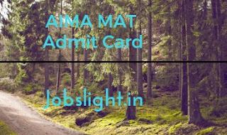 AIMA MAT Admit Card 2017