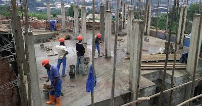 Construcción de columnas de hormigón armado