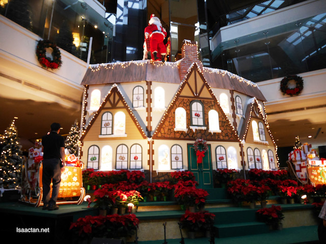 A very large advent calendar house