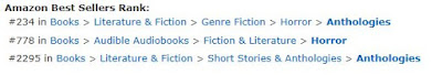 US Amazon rankings for In Creeps the Night