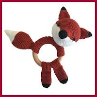 Mordedor zorro a crochet