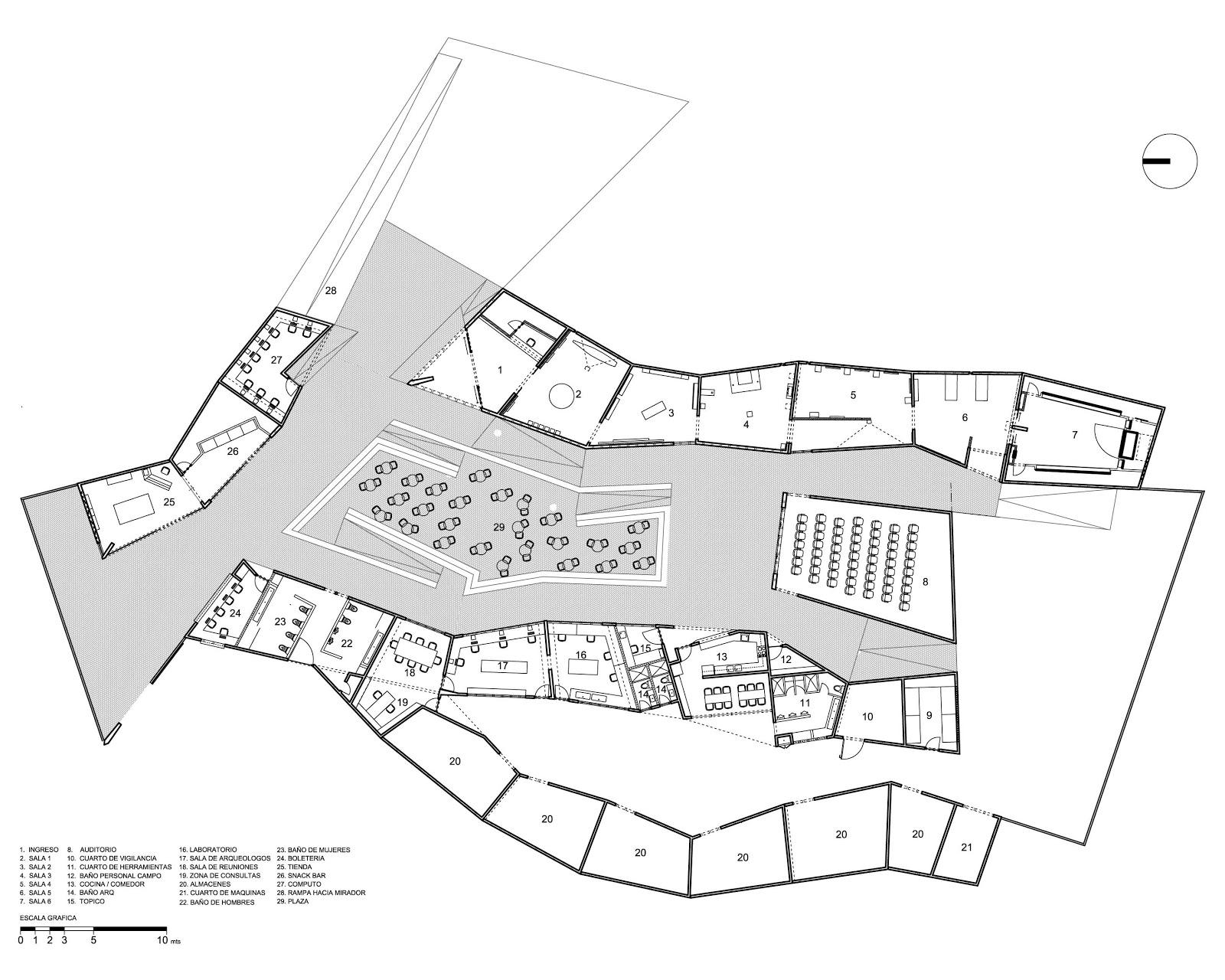 Habitar museo de sitio cao for Sitios web de arquitectura